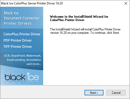 Installing the ColorPlus Printer Driver on Windows 10/8/7/Vista/XP