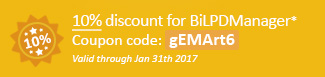 10% discount for BiLPDManager! Coupon code: gEMArt6