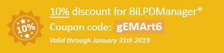 10% discount for BiLPDManager! Coupon code: gEMArt6