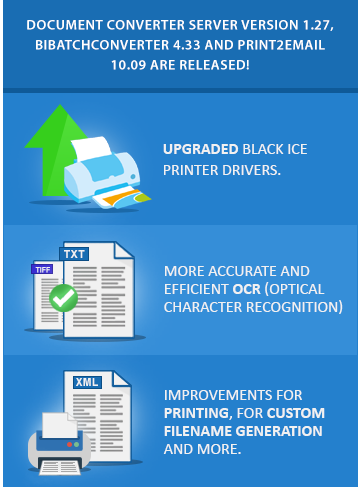 Try Document Converter, BiBatchConverter and Print2Email Now!