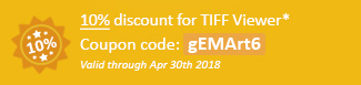 20% discount for TIFF Printer Driver Coupon code: gEMArt6