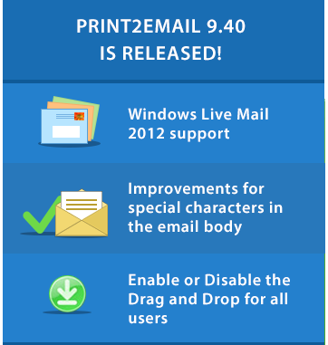 Print2Email 9.40 is released!