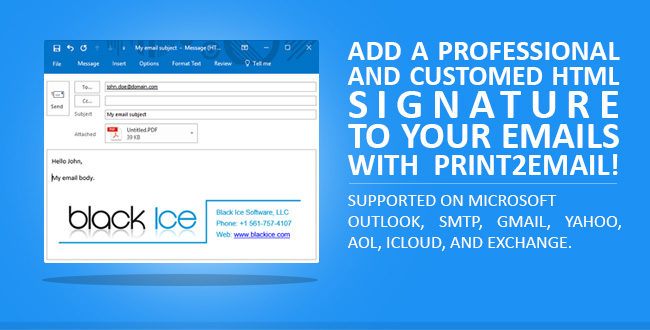 Add a Customized HTML Signature to Your Emails with Print2Email!