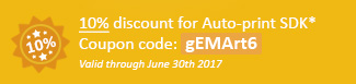 10% discount for Auto-print SDK Coupon code: gEMArt6
