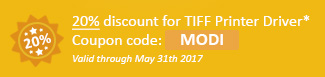 20% discount for TIFF Printer Driver Coupon code: MODI