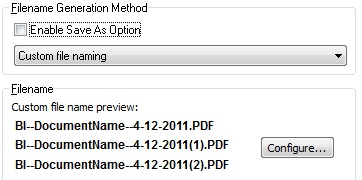 Custom File Naming option
