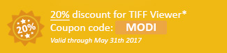20% discount for TIFF Viewer Coupon code: MODI