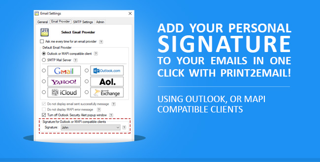 Use Your Existing Email Signatures with Print2Email