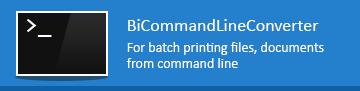 New BiCommandLineConverter!