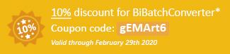 10% discount for BiBatchConverter Coupon code: gEMArt6