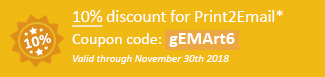 10% discount for Print2Email Coupon code: gEMArt6