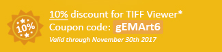 10% discount for TIFF Viewer! Coupon code: gEMArt6
