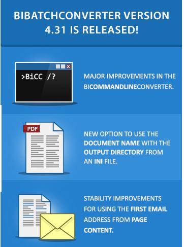 BiBatchConverter 4.31 is released!