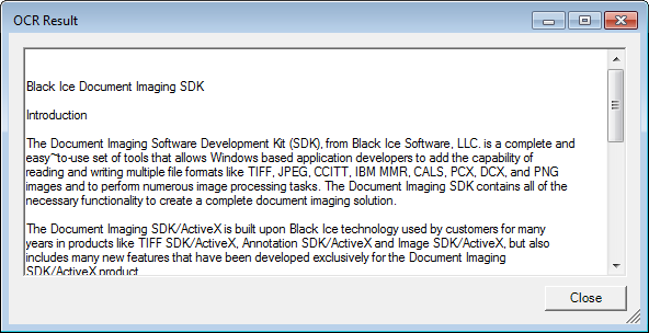 Optical Character Recognition - Document Imaging SDK - Black Ice