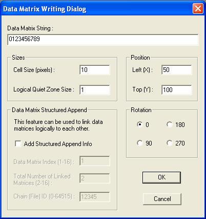 Using the Data Matrix Barcode SDK / ActiveX Sample