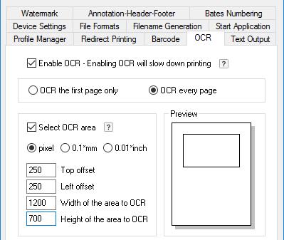 OCR with Black Ice Printer Drivers - Licensed ColorPlus Printer