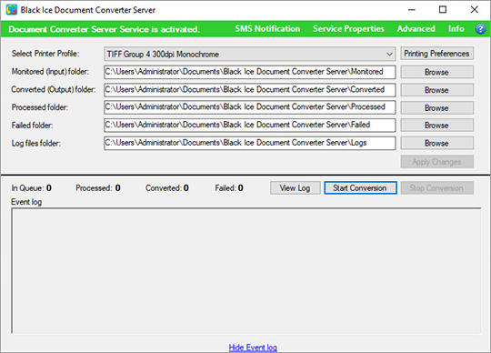 Document Converter Server User Interface