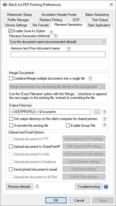 PDF Printer Driver - OEM Black Ice PDF Desktop - Black Ice