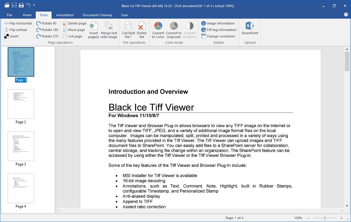 Black Ice TIFF Viewer screenshot