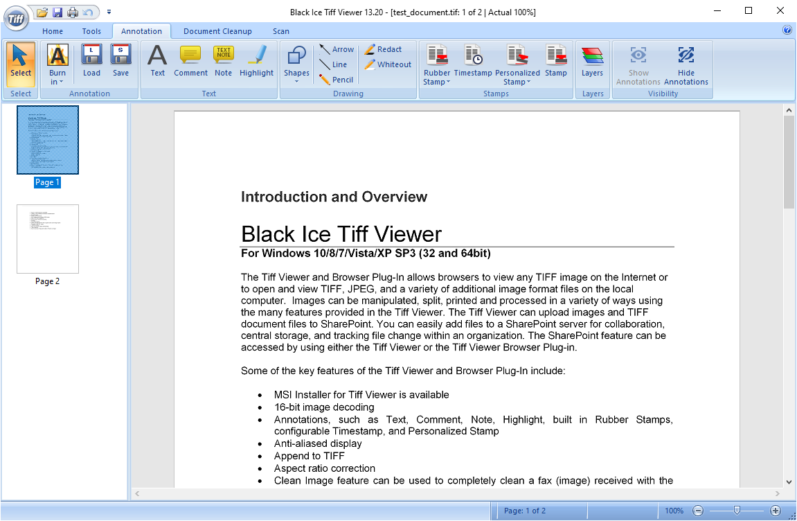 Black Ice TIFF Viewer screenshot