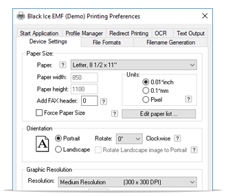 EMF Printer Driver full screenshot